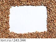 Купить «Рамка из вареной гречки», фото № 243344, снято 14 июля 2007 г. (c) Harry / Фотобанк Лори