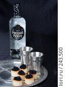 Купить «Натюрморт с бутылкой водки Русский Резерв», фото № 243500, снято 1 марта 2008 г. (c) Harry / Фотобанк Лори