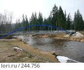 Купить «Латвия, река Амата, мост пешеходний», фото № 244756, снято 4 апреля 2008 г. (c) maruta bekina / Фотобанк Лори