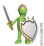 Купить «Стилизованный человечек-рыцарь в средневековых доспехах», иллюстрация № 244776 (c) Лукиянова Наталья / Фотобанк Лори