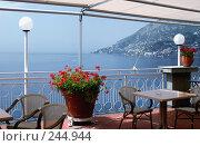 Купить «Вид на море и горы из окна ресторана. Италия. Амальфи», фото № 244944, снято 23 мая 2006 г. (c) Татьяна Белова / Фотобанк Лори
