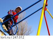 Купить «Мальчик на качелях», фото № 247012, снято 3 апреля 2008 г. (c) RedTC / Фотобанк Лори
