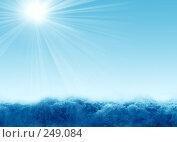 Купить «Море и солнечные лучи», иллюстрация № 249084 (c) ElenArt / Фотобанк Лори