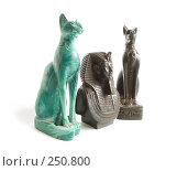 Купить «Базальтовый Тутанхамон под охраной кошек», фото № 250800, снято 12 апреля 2008 г. (c) Яков Филимонов / Фотобанк Лори