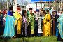 Встреча паломников у Креста на южном въезде в г.Мелитополе, фото № 252000, снято 14 апреля 2008 г. (c) Сергей Литвиненко / Фотобанк Лори