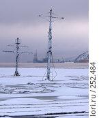 Купить «Мачты затонувшего корабля из-подо льда залива», эксклюзивное фото № 252484, снято 8 марта 2008 г. (c) Иван Мацкевич / Фотобанк Лори
