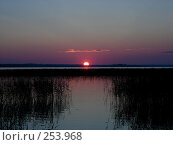 Закат на озере Сиг, фото № 253968, снято 11 августа 2006 г. (c) Анастасия Некрасова / Фотобанк Лори