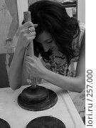 Купить «Девушка с вантусом», фото № 257000, снято 27 января 2007 г. (c) Андрей Доронченко / Фотобанк Лори