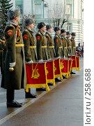 Купить «Военный оркестр  строй горнистов», фото № 258688, снято 16 декабря 2006 г. (c) Игорь Шаталов / Фотобанк Лори