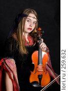 Купить «Девушка со скрипкой», фото № 259632, снято 29 марта 2008 г. (c) Golden_Tulip / Фотобанк Лори