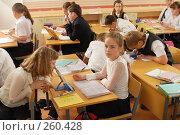Купить «На уроке в четвертом классе», фото № 260428, снято 23 апреля 2008 г. (c) Федор Королевский / Фотобанк Лори