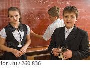 Купить «У школьной доски. Перемена в четвертом классе», фото № 260836, снято 23 апреля 2008 г. (c) Федор Королевский / Фотобанк Лори