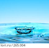 Купить «Упавшая капля воды», фото № 265004, снято 5 апреля 2008 г. (c) Константин Тавров / Фотобанк Лори
