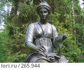 Купить «Статуя музы истории Клио в Павловском парке», фото № 265944, снято 27 мая 2007 г. (c) Морковкин Терентий / Фотобанк Лори