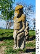 Купить «Каменные Половецкие бабы, Украина», фото № 266872, снято 25 апреля 2008 г. (c) Игорь Ткачёв / Фотобанк Лори
