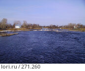 Река в Беломорске. Стоковое фото, фотограф Сергей Карцов / Фотобанк Лори