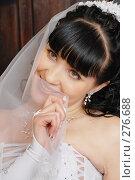 Купить «Невеста прикрылась фатой», фото № 276688, снято 18 апреля 2008 г. (c) Федор Королевский / Фотобанк Лори