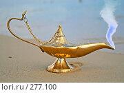 Купить «Лампа Аладдина с джинном на берегу моря», фото № 277100, снято 10 сентября 2007 г. (c) Вероника Галкина / Фотобанк Лори
