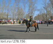 Купить «Казак на лошади, г. Краснокаменск, день Победы», фото № 278156, снято 9 мая 2008 г. (c) Геннадий Соловьев / Фотобанк Лори