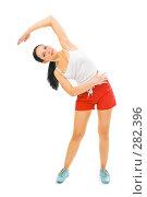 Купить «Девушка делает гимнастику», фото № 282396, снято 26 января 2008 г. (c) Анатолий Типляшин / Фотобанк Лори