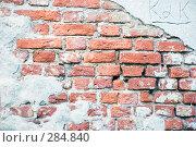 Купить «Старая кирпичная кладка с обвалившейся штукатуркой», эксклюзивное фото № 284840, снято 13 мая 2008 г. (c) Александр Щепин / Фотобанк Лори