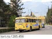 Купить «Троллейбус на улице Ялты», эксклюзивное фото № 285456, снято 20 апреля 2008 г. (c) Дмитрий Неумоин / Фотобанк Лори