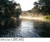 Туман на реке. Стоковое фото, фотограф Комоедова Зоя Николаевна / Фотобанк Лори
