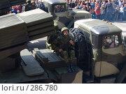 Купить «9 мая 2008 г. в Ростове-на-Дону. Парад военной техники», фото № 286780, снято 9 мая 2008 г. (c) Артем Ефимов / Фотобанк Лори
