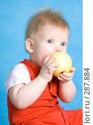 Купить «Мальчик кушает яблоко», фото № 287884, снято 29 февраля 2008 г. (c) Вадим Пономаренко / Фотобанк Лори