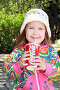 Девочка пьёт кока-колу, фото № 288456, снято 17 мая 2008 г. (c) Круглов Олег / Фотобанк Лори