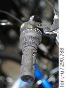 Купить «Ручка переключения скоростей велосипеда», фото № 290788, снято 18 мая 2008 г. (c) Владимир Казарин / Фотобанк Лори