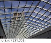 Купить «Стеклянная крыша здания», фото № 291308, снято 27 июня 2005 г. (c) sav / Фотобанк Лори