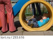 Купить «Ребенок на площадке», фото № 293616, снято 3 мая 2008 г. (c) Юля Тюмкая / Фотобанк Лори