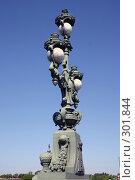 Купить «Санкт-Петербург. Фонарь Троицкого моста», фото № 301844, снято 28 мая 2008 г. (c) Александр Секретарев / Фотобанк Лори