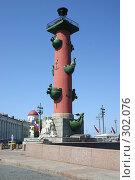 Купить «Санкт-Петербург. Ростральные колонны», фото № 302076, снято 28 мая 2008 г. (c) Александр Секретарев / Фотобанк Лори