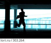 Бегущий человек. Стоковое фото, фотограф Сергей Лаврентьев / Фотобанк Лори