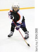 Юный хоккеист (2008 год). Редакционное фото, фотограф Дмитрий Неумоин / Фотобанк Лори