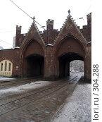 Купить «Бранденбургские (Берлинские) ворота. Калининград», фото № 304288, снято 1 января 2008 г. (c) Liseykina / Фотобанк Лори