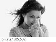 Купить «Ветер. Монохром», фото № 305532, снято 31 мая 2008 г. (c) Наталья Белотелова / Фотобанк Лори