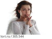 Купить «Девушка в образе ангела в мольбе», фото № 305544, снято 31 мая 2008 г. (c) Наталья Белотелова / Фотобанк Лори