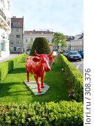 Купить «Скульптура коровы», фото № 308376, снято 30 апреля 2008 г. (c) Лифанцева Елена / Фотобанк Лори