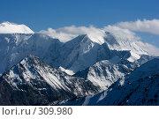 Заснеженные горные вершины, фото № 309980, снято 26 сентября 2017 г. (c) Андрей Пашкевич / Фотобанк Лори