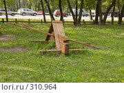 Купить «Качели на детской площадке», фото № 310964, снято 29 мая 2008 г. (c) Эдуард Межерицкий / Фотобанк Лори