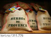 Купить «Холщовые мешочки с ароматными травами Прованса», фото № 311776, снято 23 июля 2007 г. (c) Татьяна Лата / Фотобанк Лори