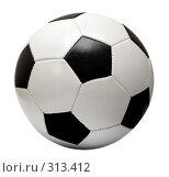 Купить «Футбольный мяч на белом фоне», фото № 313412, снято 30 марта 2008 г. (c) Михаил Коханчиков / Фотобанк Лори