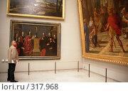 Купить «Знакомство с картиной. Лувр. Париж», эксклюзивное фото № 317968, снято 18 августа 2018 г. (c) Free Wind / Фотобанк Лори