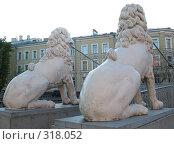 Купить «Санкт-Петербург. Львиный мостик. Львы», фото № 318052, снято 30 мая 2008 г. (c) Морковкин Терентий / Фотобанк Лори