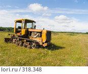 Купить «Старый трактор в поле», фото № 318348, снято 3 августа 2006 г. (c) Анатолий Заводсков / Фотобанк Лори
