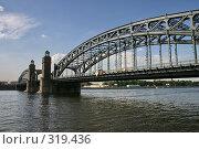 Купить «Санкт-Петербург. Мост Петра Великого (Охтинский)», фото № 319436, снято 6 августа 2005 г. (c) Александр Секретарев / Фотобанк Лори