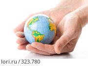 Купить «Глобус земли в ладонях», фото № 323780, снято 28 мая 2008 г. (c) Мельников Дмитрий / Фотобанк Лори